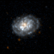 NASA's Galaxy Evolution Explorer took this ultraviolet color image of the galaxy NGC5962 on June 7, 2003. This spiral galaxy is located 90 million light-years from Earth.