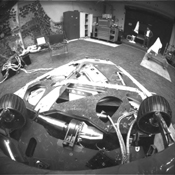 This image, taken in the JPL In-Situ Instruments Laboratory or