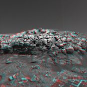 As NASA's Mars Exploration Rover Opportunity was making its way back toward its original entry path into 'Endurance Crater,' scientists and engineers spotted what they hoped might be a shortcut for climbing out of the crater. 3-D glasses are necessary.