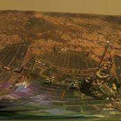 During four months prior to the fourth anniversary of its landing on Mars, NASA's Mars Exploration Rover Opportunity examined rocks inside an alcove called 'Duck Bay' in the western portion of Victoria Crater.
