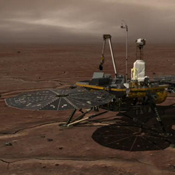 This image shows how NASA's Phoenix Mars Lander stays in contact with Earth.