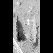 This image was acquired by NASA's Phoenix Mars Lander's Surface Stereo Imager and shows sublimation of ice in the trench informally called 'Dodo-Goldilocks' over the course of four days.
