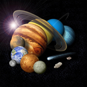 This is an artist's conception of a solar-system montage of the eight planets, a comet and an asteroid.