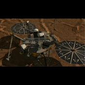 This frame from an animation shows a zoom into the Mars Descent Imager (MARDI) instrument onboard NASA's Phoenix Mars Lander. The Phoenix team will soon attempt to use a microphone on the MARDI instrument to capture sounds of Mars.