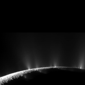 NASA's Cassini spacecraft captured dramatic plumes, both large and small, spray water ice out from many locations along the famed 'tiger stripes' near the south pole of Saturn's moon Enceladus.