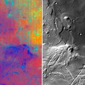 Different wavelengths of light provide new information about the Orientale Basin region of the moon in a composite image taken by NASA's Moon Mineralogy Mapper, a guest instrument aboard the Indian Space Research Organization's Chandrayaan-1 spacecraft.