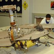 NASA's Mars Exploration Rover team members continued longer-duration test runs this week, driving the test rover forward and uphill in a crab-like position. These long-duration drives will continue through the end of next week.