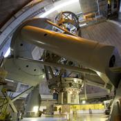 This is image is of the 200-inch Hale Telescope at the Palomar Observatory, located in north San Diego County, California which is owned and operated by the California Institute of Technology.