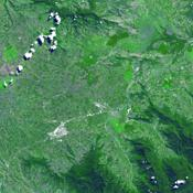 This image from NASA's Terra spacecraft shows the Kuk Early Agricultural Site in the western highlands of New Guinea. It is an excellent example of transformation of agricultural practices over time.
