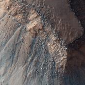 This observation from NASA's Mars Reconnaissance Orbiter shows part of Gorgonum Chaos, a large cluster of chaotic terrain found in the southern hemisphere.