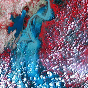 On Sept. 3, 2010, NASA's Terra spacecraft captured this image strip over the Indus River, Pakistan, where severe flooding caused a major humanitarian crisis.