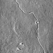 This image from NASA's Mars Odyssey shows an unnamed channel located on the margin of Elysium Planitia and the Elysium volcanic complex.