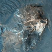 This observance from NASA's Mars Reconnaissance Orbiter shows a formation of large outflow channels on Mars' Aureum Chaos.
