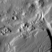 This image captured by NASA's Mars Odyssey shows a portion of the northern branch of Kasei Valles.