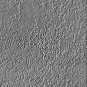 The South Pole is receiving sun every day now as spring progresses. The surface texture visible in this image captured by NASA's Mars Odyssey was created by the effect of solar warming on the ice.