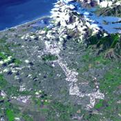 On Feb. 23, 2011, NASA's Terra spacecraft imaged the Christchurch region on New Zealand's South Island; this region was rocked by a powerful magnitude 6.3 earthquake.