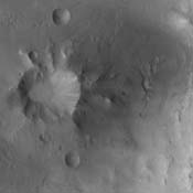 Impact craters can have a variety of floor features. This image from NASA's Mars Odyssey is a central peak/pit combination crater in Terra Cimmeria.