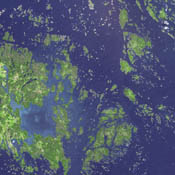 This image, acquired by NASA's Terra spacecraft, is of the Aaland archipelago at the mouth of the Gulf of Bothnia which belongs to Finland, though it enjoys autonomy from Helsinki and locals speak Swedish.