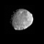 This image shows NASA's Dawn's view of Vesta from June 20, 2011, when the approaching spacecraft was about 117,000 miles (189,000 kilometers) away from the body.