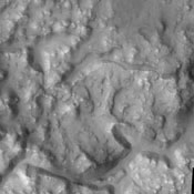 Today's image captured by NASA's 2001 Mars Odyssey shows a portion of Iani Chaos.
