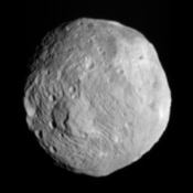 NASA's Dawn spacecraft obtained this image of the giant asteroid Vesta with its framing camera on July 9, 2011. Vesta is also considered a protoplanet because it is a large body that almost became a planet.