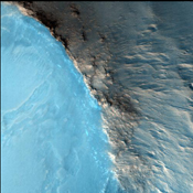 The suggested area in this observation from NASA's Mars Reconnaissance Orbiter is characterized by a group of cones, shield-like features, and round mounds. They are a few hundred meters to kilometers in diameter but their heights are unknown.