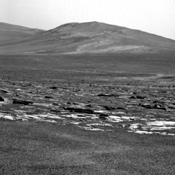 NASA's Mars Exploration Rover Opportunity captured this view of a portion of Endeavour crater's rim after a drive on Aug. 4, 2011 to reach 'Spirit Point,' the chosen arrival site.