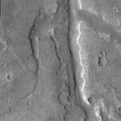 This image captured by NASA's 2001 Mars Odyssey spacecraft shows a small section of Samara Valles.