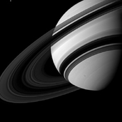 Tethys may not be tiny by normal standards, but when it is captured alongside Saturn, it can't help but seem pretty small in this image from NASA's Cassini spacecraft.