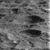 On its fourth and final targeted flyby of Rhea, NASA's Cassini spacecraft provided this stunning view of the ancient and heavily cratered surface. Billions of years of impacts have sculpted Rhea's surface into the form we see today.