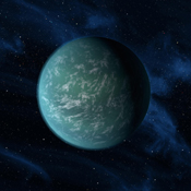 This artist's conception illustrates Kepler-22b, a planet known to comfortably circle in the habitable zone of a sun-like star. It is the first planet that NASA's Kepler mission has confirmed to orbit in a star's habitable zone.