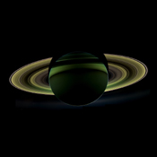NASA's Cassini spacecraft has delivered a glorious view of Saturn, taken while the spacecraft was in Saturn's shadow. The cameras were turned toward Saturn and the sun so that the planet and rings are backlit.
