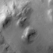 The dunes in this image captured by NASA's 2001 Mars Odyssey spacecraft are located on the floor of Lohse Crater.