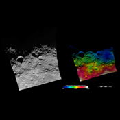 These images from NASA's Dawn spacecraft show part of asteroid Vesta's equatorial region, which contains many different sizes of impact craters.