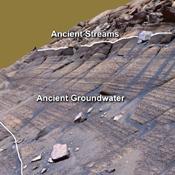 NASA's Mars Exploration Rover Opportunity studied layers in the Burns Cliff slope of Endurance Crater in 2004. The layers show different types of deposition of sulfate-rich sediments. Opportunity's panoramic camera recorded this image.