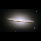 Lying at the southern edge of the rich Virgo cluster of galaxies, Messier 104, also called the Sombrero galaxy, is one of the most famous objects in the sky in this image from NASA's Hubble Space Telescope.