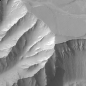 This image from NASA's 2001 Mars Odyssey spacecraft shows part of Candor Chasma.