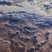 This image of clouds over the southern Indian Ocean was acquired on July 23, 2007 was acquired by NASA's polar-orbiting Terra spacecraft.