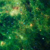 Listed as Cassiopeia A, this remnant of the supernova is one of the brightest radio sources in the known universe. More recently, NASA's WISE telescope detected infrared echoes of the flash of light rippling outwards from the supernova.