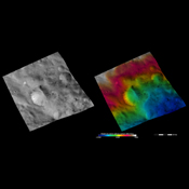 These images from NASA's Dawn spacecraft are located in Vesta's Sextilia quadrangle, in asteroid Vesta's southern hemisphere.