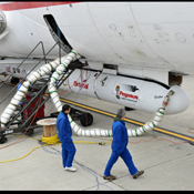 This photo shows the Orbital Sciences Corporation Pegasus XL rocket with NASA's NuSTAR spacecraft after attachment to the L-1011 carrier aircraft known as 'Stargazer.'