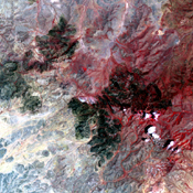 The Livermore and Spring Ranch fires near the Davis Mountain Resort, Texas, burned 13,000 and 11,000 acres respectively. When NASA's Terra spacecraft acquired this image on May 12, 2012, both fires had been contained.
