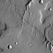 The small unnamed channels in this image captured by NASA's 2001 Mars Odyssey spacecraft are located on the northeastern margin of Tempe Terra.