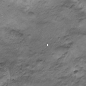 NASA's Mars Reconnaissance Orbiter obtained this color image with the Mars Descent Imager aboard NASA's Curiosity rover during its descent to the surface. Curiosity landed on Aug. 5 PDT (Aug. 6 EDT).