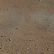 This cut-out from a color panorama image taken by NASA's Curiosity rover shows the effects of the descent stage's rocket engines blasting the ground. It comes from the right side of the thumbnail panorama obtained the Mast Camera.