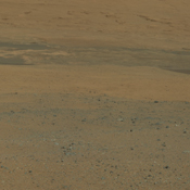This color image from NASA's Curiosity rover looks south of the rover's landing site on Mars towards Mount Sharp. This is part of a larger, high-resolution color mosaic made from images obtained by Curiosity's Mast Camera.