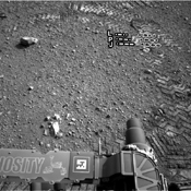 The straight lines in Curiosity's zigzag track marks are Morse code for JPL. The 'footprint' is an important reference mark that the rover can use to drive more precisely via a system called visual odometry.