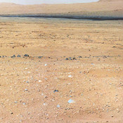 This mosaic from the Mast Camera on NASA's Curiosity rover shows the view looking toward the 'Glenelg' area, where three different terrain types come together.