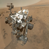 NASA's Curiosity rover used its Mars Hand Lens Imager (MAHLI) to capture a set of 55 high-resolution images, which were stitched together to create a full-color self-portrait.