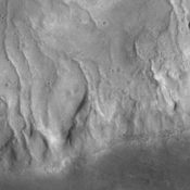 This image shows numerous gullies that dissect the rim of Bunge Crater as seen by NASA's 2001 Mars Odyssey spacecraft.